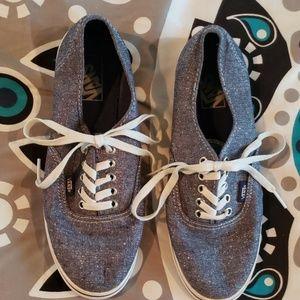 Vans Blue Sparkly Shoes Mens 8.5 Womens 10